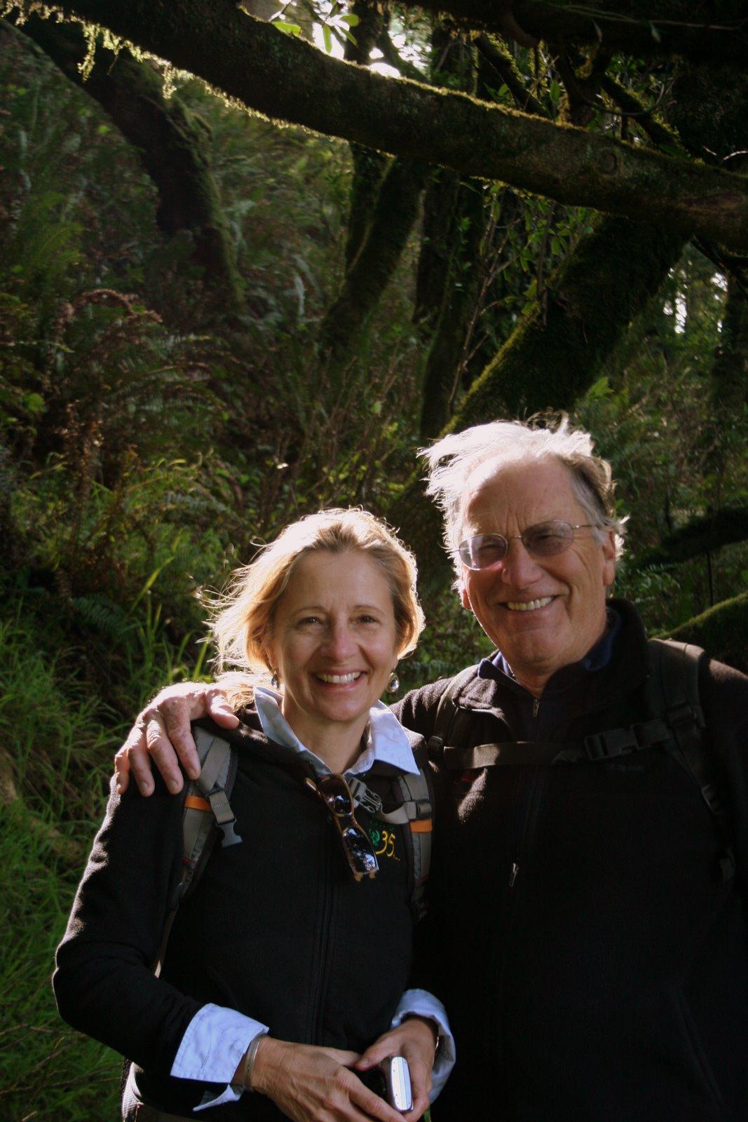 Nadia and Leo LeBon hiking in Northern California, January 25, 2009