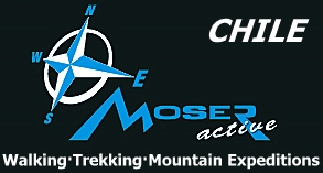Moser active adventure trekking mountain expedition logo