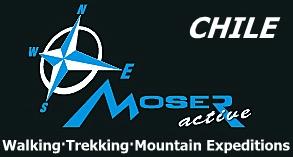 Moser active adventure trekking mountain expedition logo
