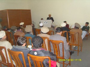 Miftahuddin, ACO Chitral is delivering a speech