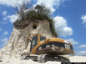 Ancient Mayan Pyramid Bulldozed for Road Fill in Belize