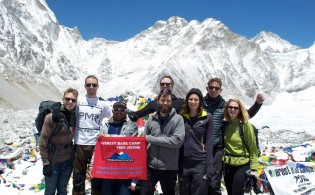 our-client at everest base camp