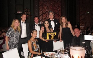 The Khiri Travel team with the NTCC 'Best Tourism Company' award