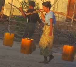 Finding adequate water in Bagan is a challenge. Picture credit
