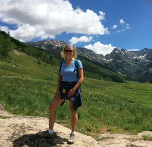 Lyn Mettler hiking Colorado