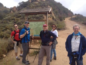 AdventureConnect hikers set out for a Saturday morning of active networking in Topanga Canyon.