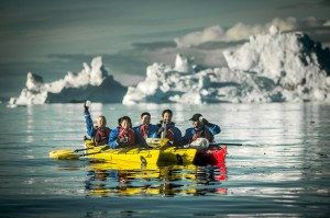 Kayakers in the Disko Bay