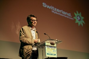 Alex Herrmann speaking at the 2014 Adventure Travel World Summit in Ireland