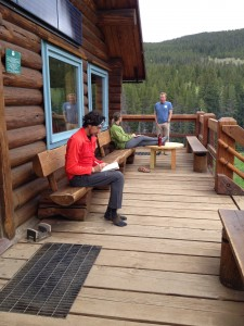 Being out of cell range at the hut meant that travel writers had to take notes the old-fashioned way: pen and paper.
