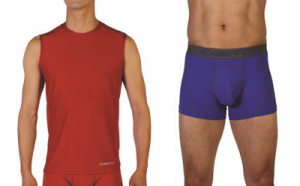 ExOfficio Give-N-Go Sport Mesh Sleeveless Crew in Stop and Sport Mesh 3-inch Boxer Brief in Royal