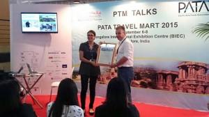 Andre van der Marck of Khiri Travel receives finalist's accolade.