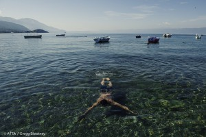swimming in lake ohrid