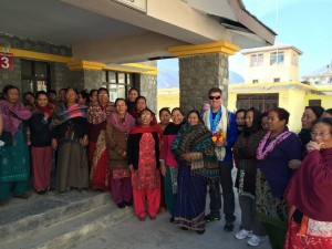 The Jomsom, Nepal 'Mothers Group' that does various community work, including the READ library in town. A kind and engaged group of women. To learn more about the organization, https://www.facebook.com/readnepal/ (founded by our own industry pioneer Toni Neubauer). Photo © Shannon Stowell