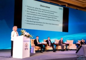"""PATA Regional Director for EMEA, Daniela Wagner, providing the keynote speech on """"Tourism and the Experience Economy"""" at the 9th UNWTO/PATA Forum on Tourism Trends and Outlook in Guilin, China."""