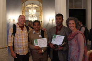 Educator Gordon Janow [left] with AdventureEDU participants.
