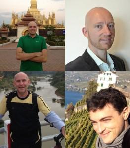 Top Left: Jason Rolan, Top Right: Sandor Leinwand, Bottom Right: Jean-Baptiste Richard, Bottom Left: Matthew Blench