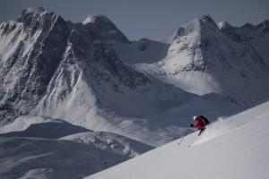 Skiing the remote peaks of East Greenland near Kuummiut  Photo by Mads Pihl:greenland.com