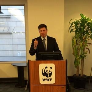 ATTA President Shannon Stowell speaks on the importance of ending wildlife trafficking.