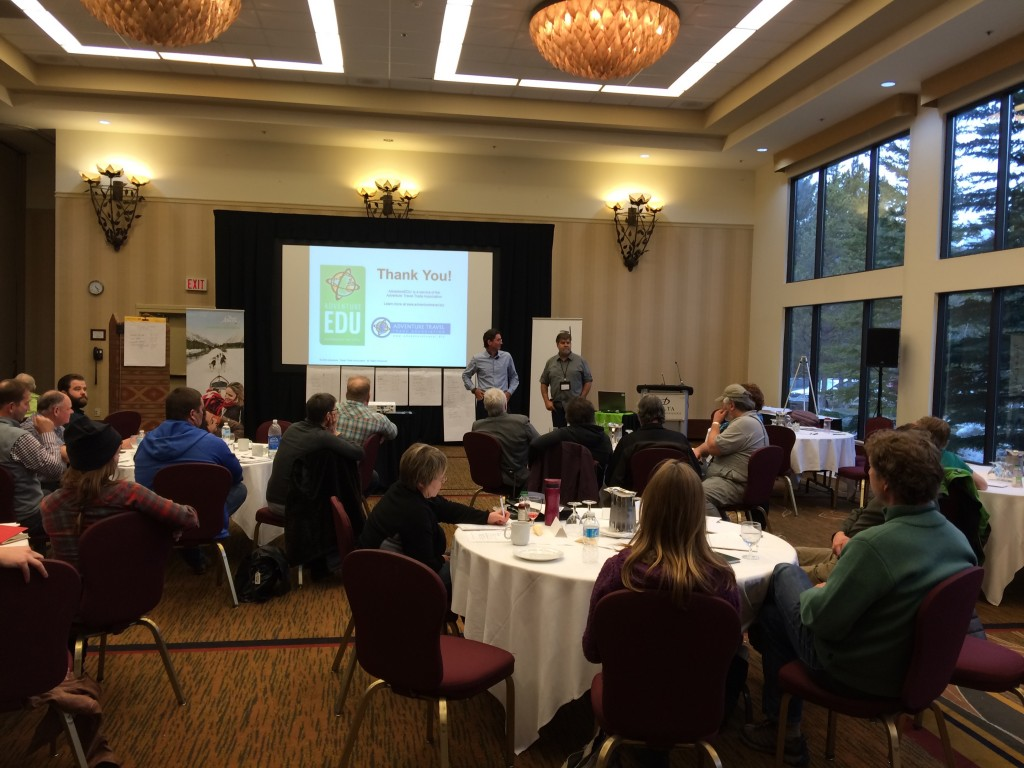 Educators Jean-Claude Razel and Dan Austin presenting.