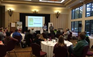 Educators Jean-Claude Razel and Dan Austin presenting.