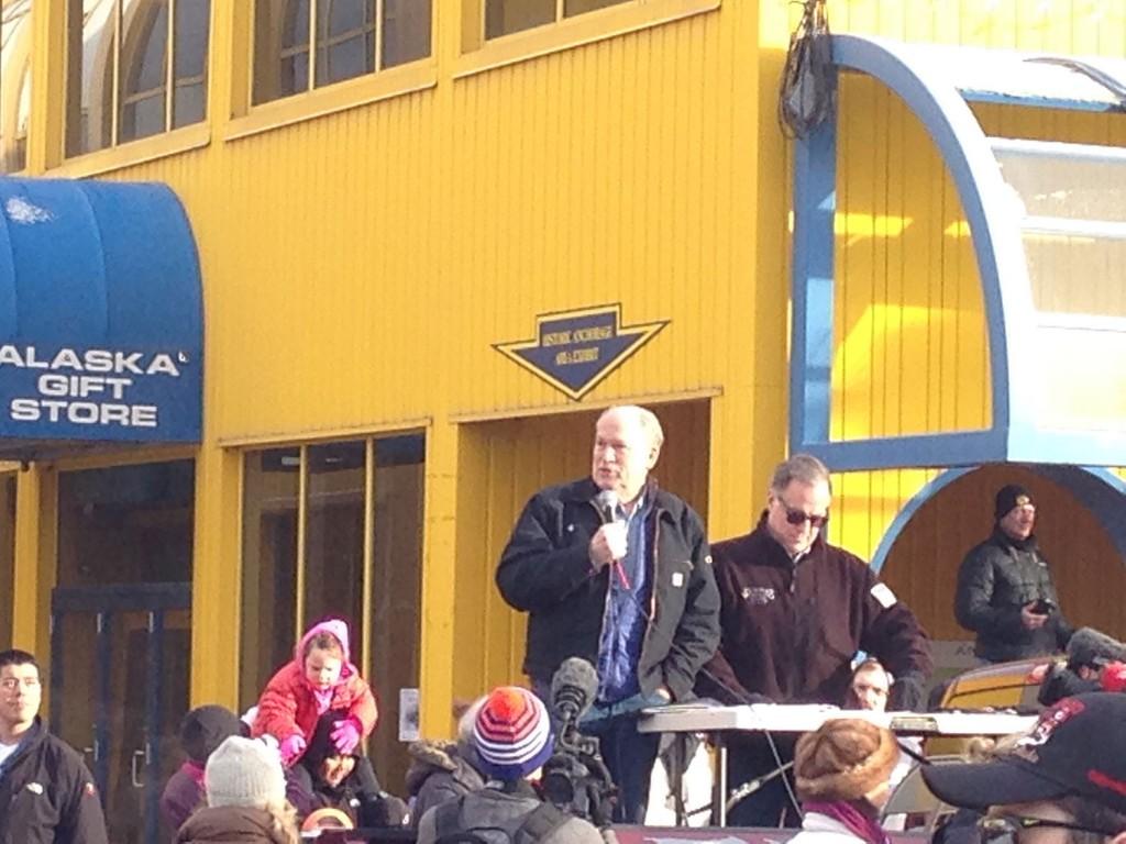 Governor Walker, Iditarod Cermonial Start, Anchorage Alaska
