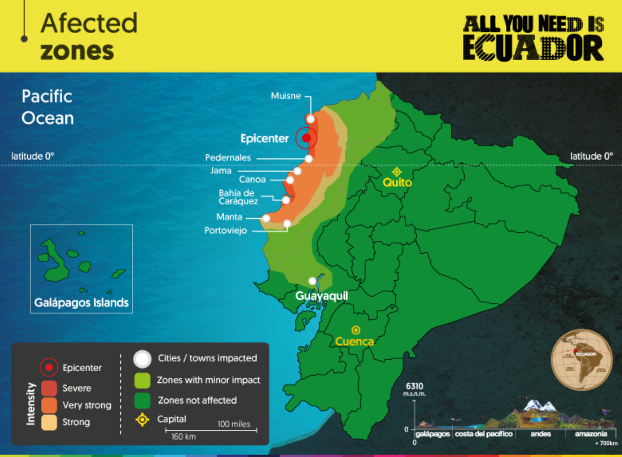 Ecuadors Tourism Infrastructure Services and Attractions Remain – Ecuador Tourist Attractions Map