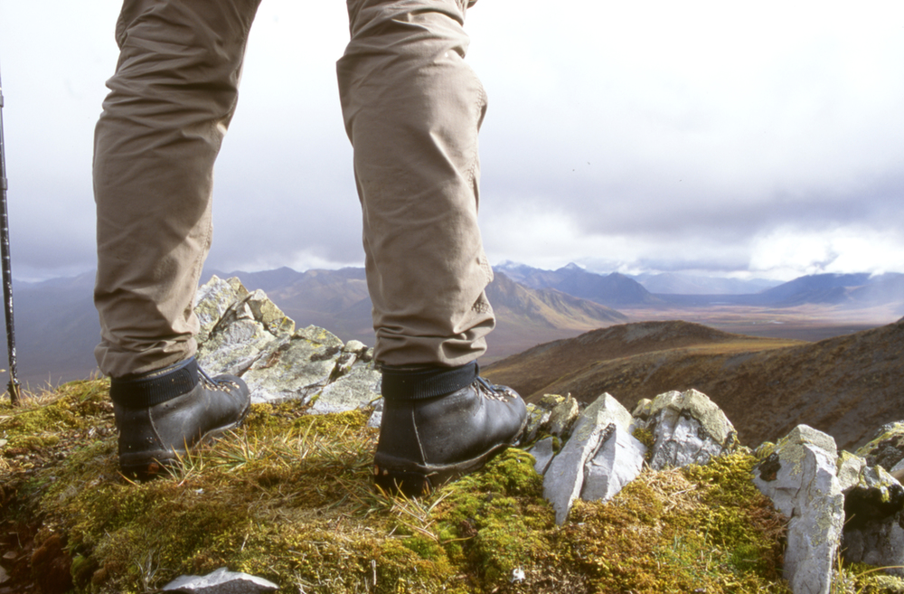 Hiking near the Dempster Highway in the Yukon.
