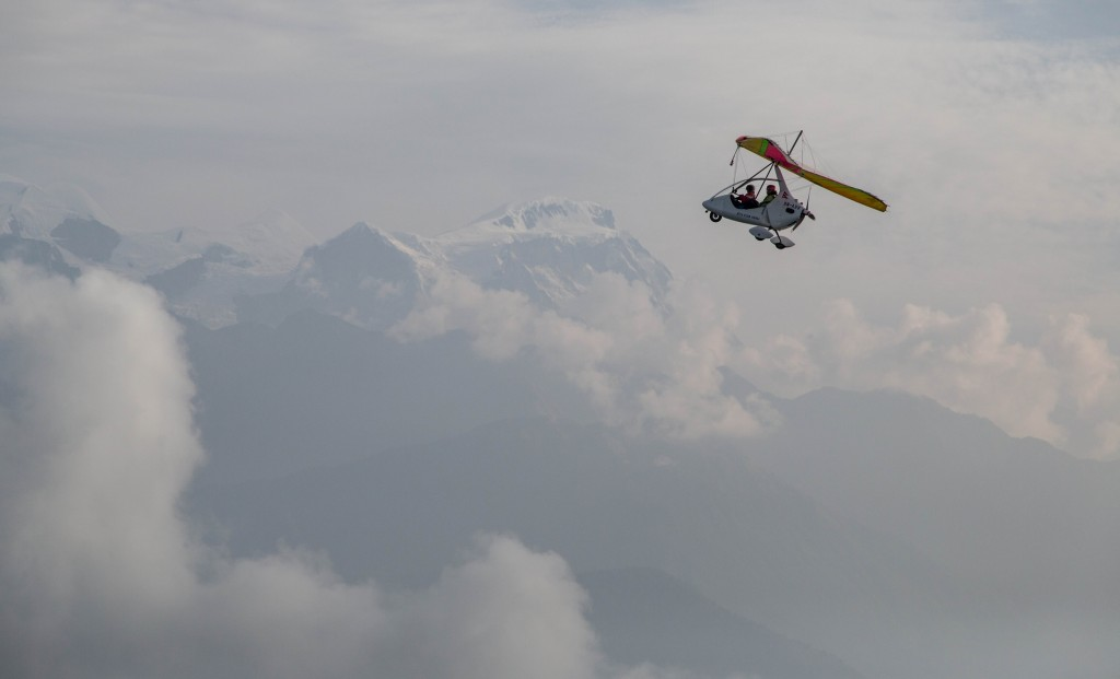 An ultralight flight through the Himalayas is part of the adventure in Nepal  © ATTA / Eric Larsen