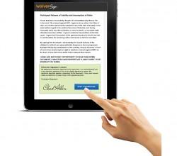WaiverSign-iPad-Hand