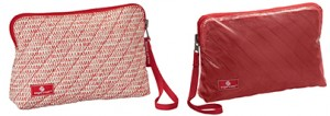 EC Pack-It Original Quilted Wristlet red and reversed S17LR