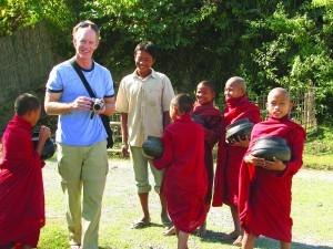 Pat O'Connell in Mrauk Oo, Burma