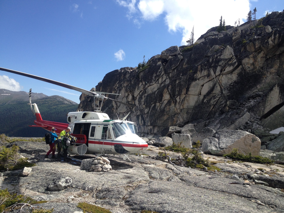 CMH Summer Adventures uses helicopters to help hikers reach high alpine destinations. Photo credit: Jennifer Pemberton