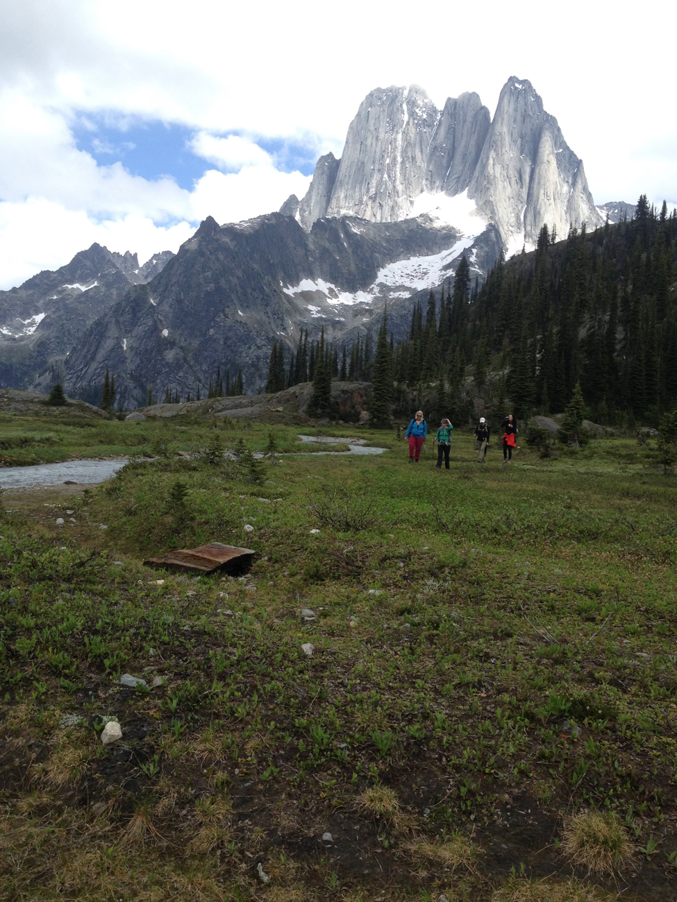 Heli-hiking allows guests at CMH's lodges to experience landscape that would otherwise be inaccessible. Photo credit: Jennifer Pemberton