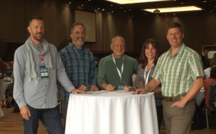 ATCF 2016 Brian Thompson of ExOfficio, Andrew Kronen of REI Adventures, Dan Blanchard of Uncruise, Jessica Dodson of Eagle Creek, and Shannon Stowell of Adventure Travel Trade Association