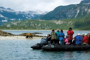 Zodiac Cruising in Alaska's Geographic Harbor | Photo Credit: Jack Grove