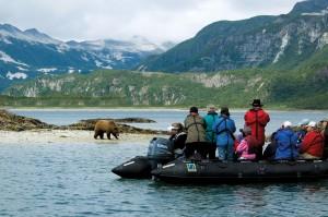 Zodiac Cruising in Alaska's Geographic Harbor | Photo Credit: Jack Grove
