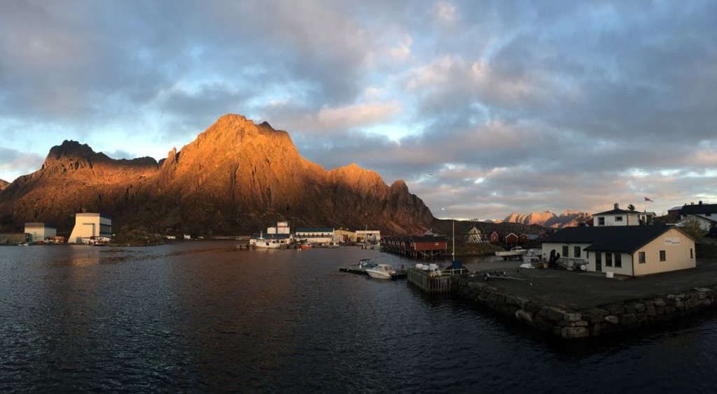 Sunset just outside the Innovative Experiences adventure tourism cluster program in Lofoten, Norway.