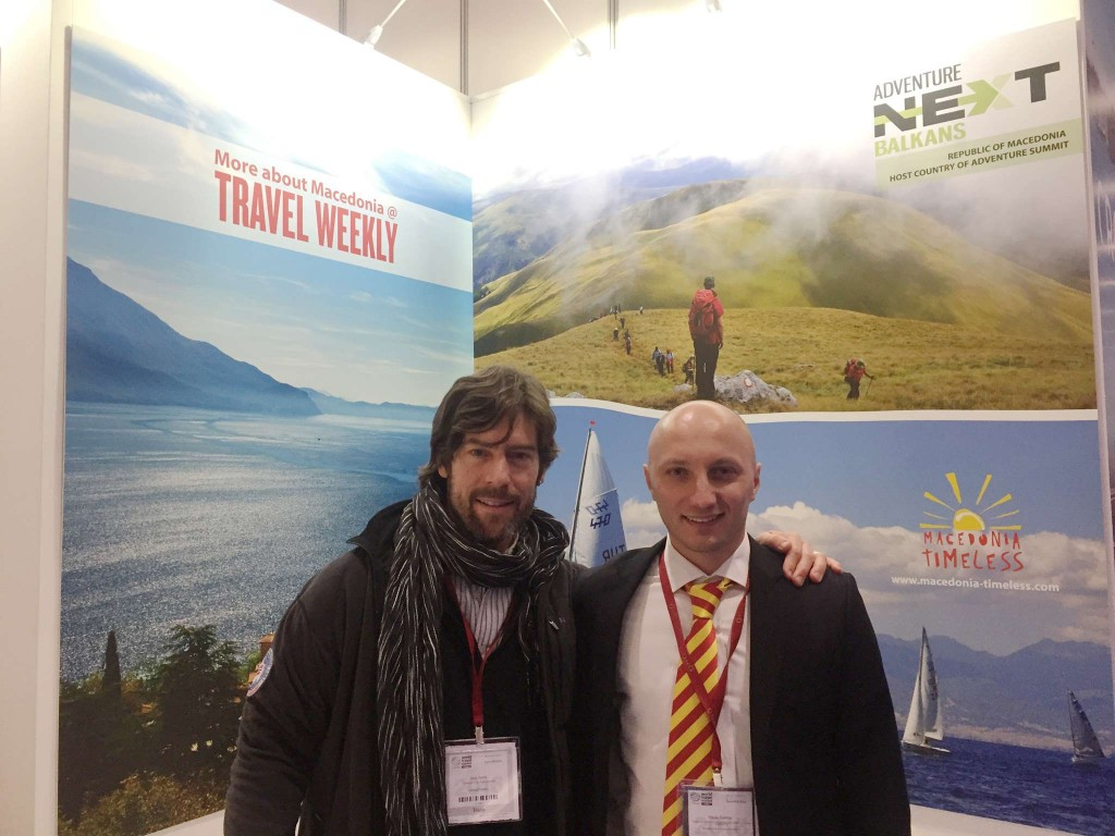Chris Doyle, ATTA Executive Director of Europe with Nikola Gjoshev during World Travel Market in London.