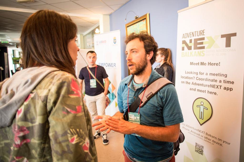 Pre-event networking and meeting scheduling have kicked into high gear for AdventureNEXT. Photo by Lukasz Warzecha.
