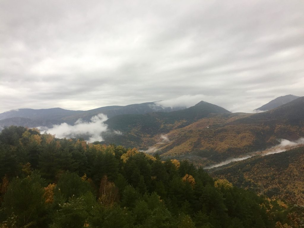 Catalunya's misty, colorful Pyrenees mountain range