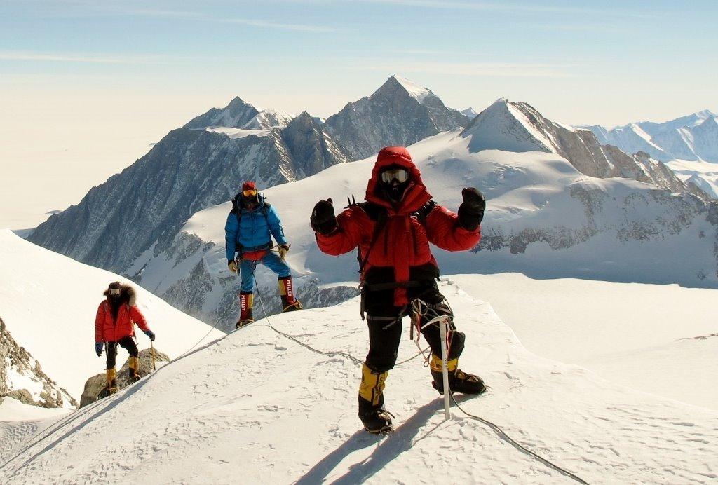 Vinson Summit Ridge by David Hamilton