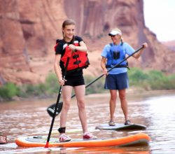 Stand up paddleboarding on the Colorado River is a unique adventure. http://www.moabadventurecenter.com/trips/moab-stand-up-paddle-board-tours/