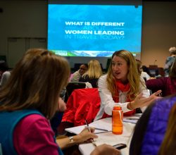 Passionate women in the adventure travel industry engaged in discussion during last year's Summit in Anchorage. © ATTA / Juno Kim