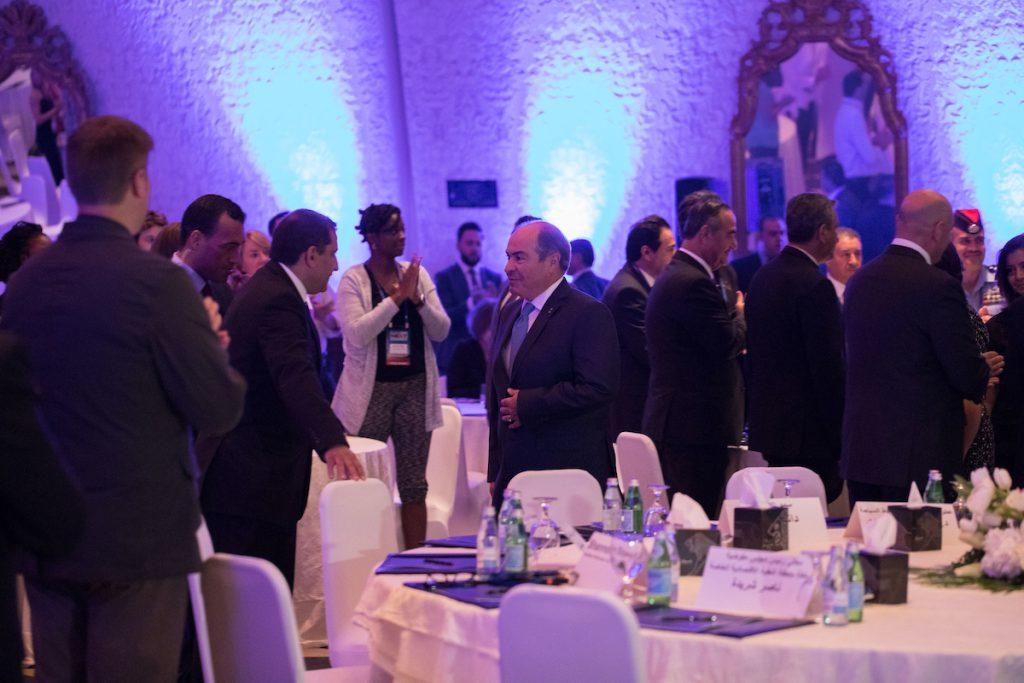 The Prime Minister of Jordan, H.E. Dr. Hani Al-Mulki, welcomed to delegates at AdventureNEXT Near East.