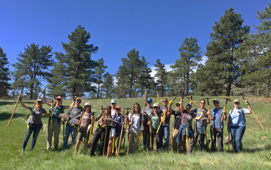 Eighteen Natural Habitat Adventures employees assisted with trail development in May 2017. © Natural Habitat Adventures