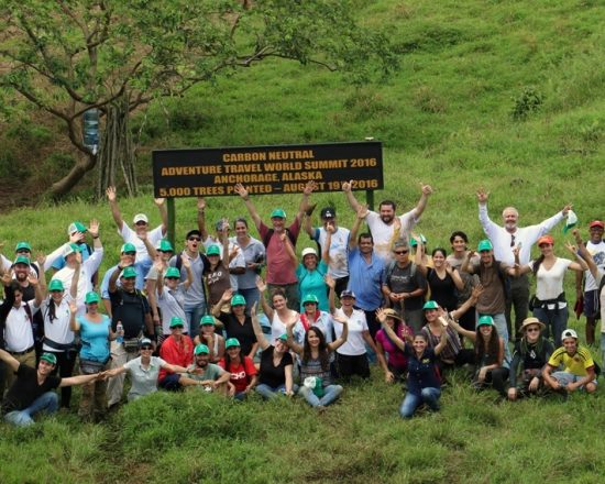 Approximately 350 volunteers helped plant trees in Costa Rica in 2016 to offset the Summit's carbon footprint.
