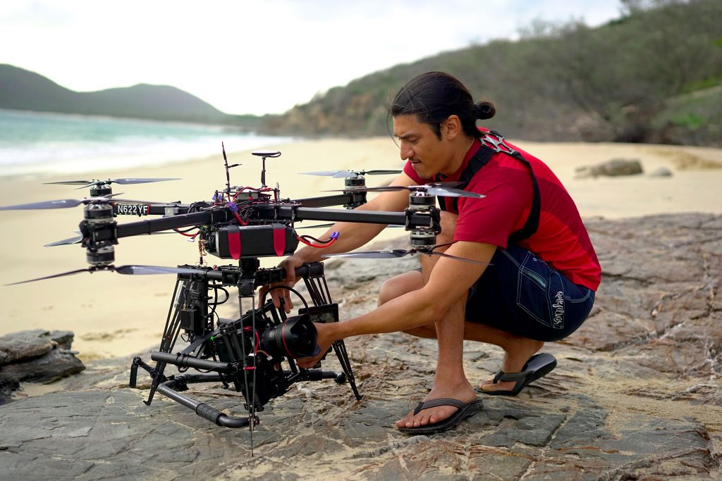 Director Jeff Orlowski and Custom-Built Drone Photo by Catherine Yrisarri © Chasing Coral