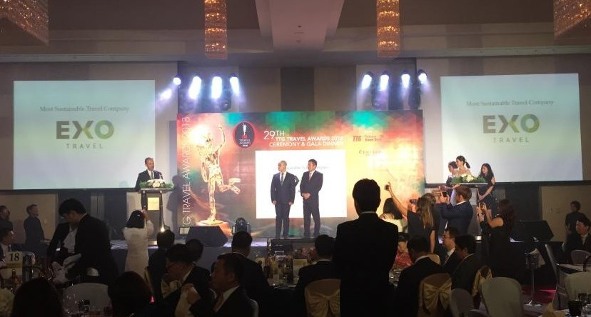 Exo Wins Sustainable Travel Company Of The Year